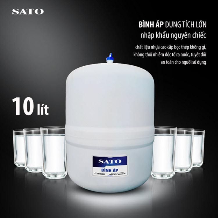 Máy lọc nước SATO Hydrogen PRO PR3010DH 10 cấp lọc bình áp