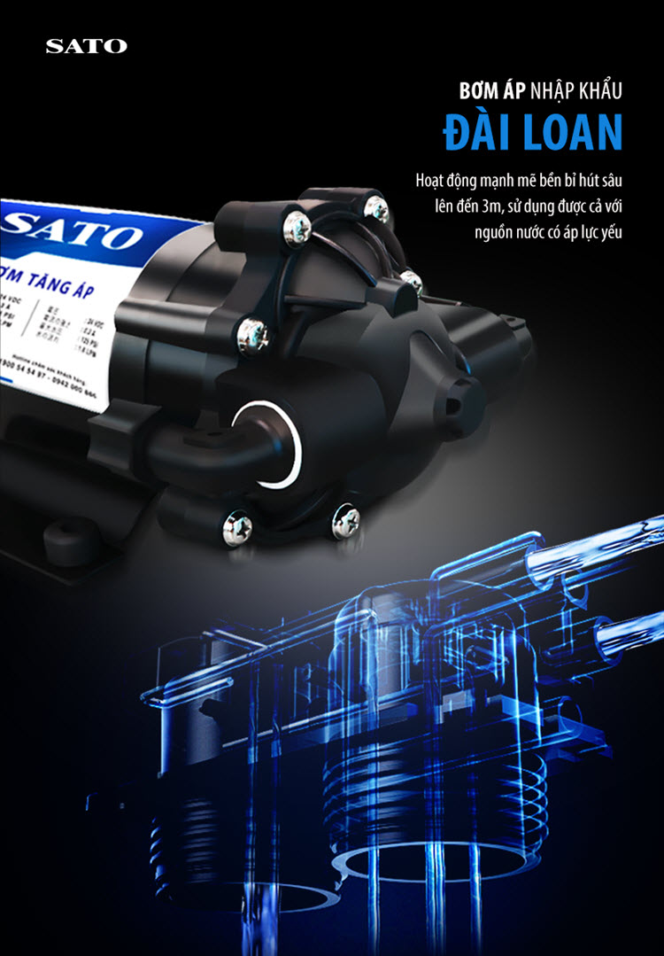 Máy lọc nước SATO Hydrogen PRO PR3010DH 10 cấp lọc 4